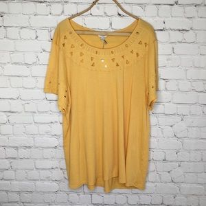Lucky Brand Faint Orange Top NWT
